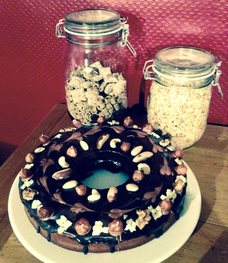 Almond And Nuts Cake Dark chocolate