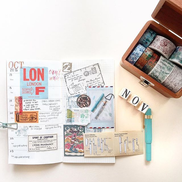 <<hello november!>> I don't journal every week. It feels like an obligation if I have to keep to a timeline. I fill in my journal as and when I feel inspired so i don't lose sight of why I do it. Recently, I've been inspired by the clean, minimalist style and I will try that in my travel journal for London! . . . #TN #washiaddict #手帐生活 #手帐 #文具 #journal #stationeryaddict #washi #planneraddict #plannerlove #travelersnotebook #stamps #artistsoninstagram #vscocam #travelersfactory #midori #diy…