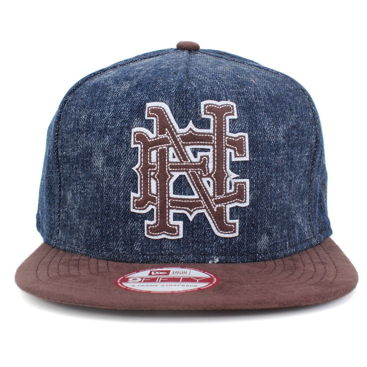 Boné New Era 9FIFTY Strapback, Boné New Era 9FIFTY A-Frame Strapback NE Jeans/Brown