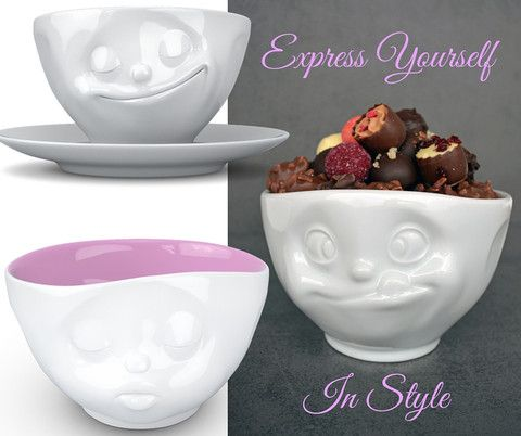 Special Gifts - Emoji Porcelain Collection #gifts #bowls #cups #mood #valentines