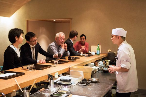 sushi bar might be apt inspiration for our kitchen counter Restaurant Review - Kajitsu in Murray Hill - NYTimes.com