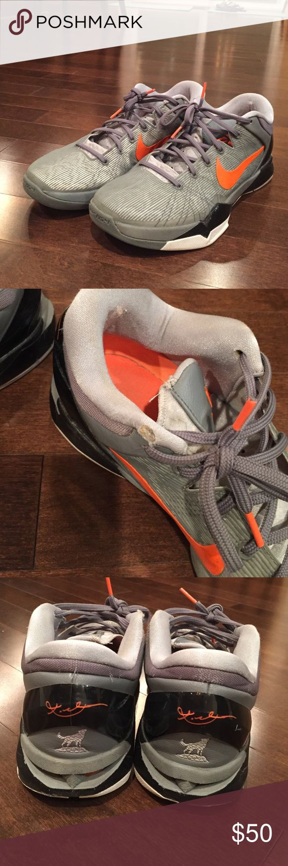 Men's Nike Kobe 7 Wolf Grey Used but in good condition. Only worn a few times. Size 10.5 men's. Perfect pair to add to your shoe collection. Small tear on right shoe(see picture) Nike Shoes Athletic Shoes