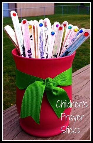 Prayer sticks help your children (or grandchildren) pray ...