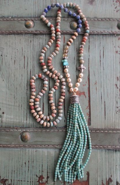 Southwestern tassel necklace Country Sway knotted by slashKnots
