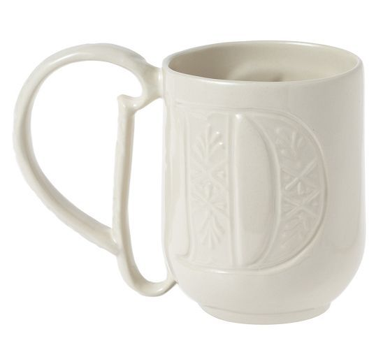 Pottery Barn Plaid Alphabet Mugs: Lets Have A Party!