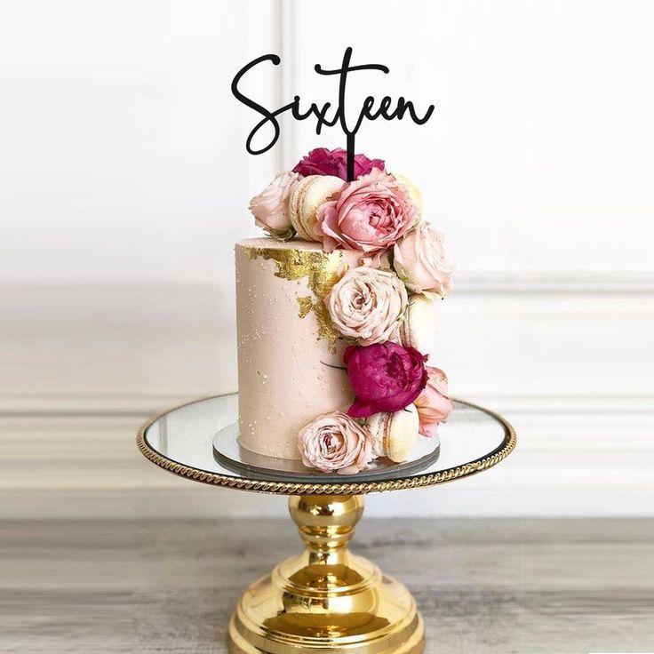 Sixteen Cake Topper 16th Cake Topper Sweet Sixteen