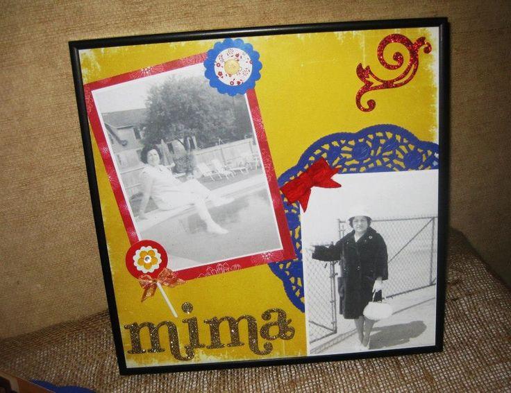 90th Birthday frame on display young pics