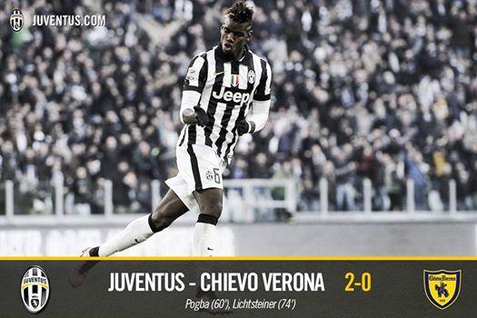 Juventus 2-0 Chievo Verona (Pogba, Lichtsteiner)