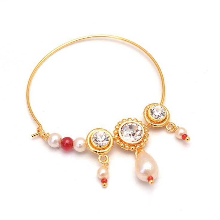 Daily Deal Designer Traditional Rajputi Nath Nose Ring Awesome Designer Jewelry #Handmade #DropDangle