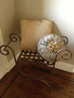 Decorative metal chair...great for an entry