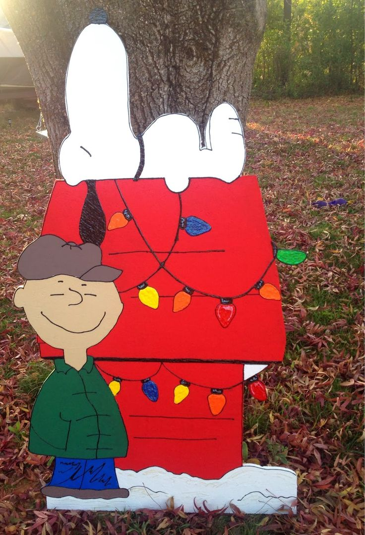 Snoopy outdoor christmas decorations - Designs By Jeannine Peanuts Charlie Brown Christmas Decorations