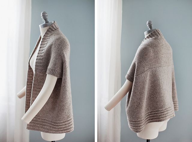 2 ways to wear this little sweater - cool design.  By brooklyntweed.: Knits Cardigans, Brooklyn Tweed, Inverness Cardigans, Knits Crochet, Style, Japanese Design, Japan Design, Design Studios, Inversion Cardigans