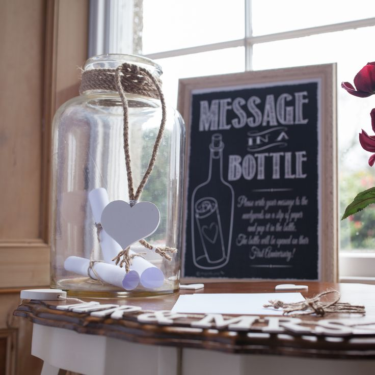 Hire our vintage french bottle and framed sign Guests will leave you their message in a bottle .... would be great for a nautical themed wedding