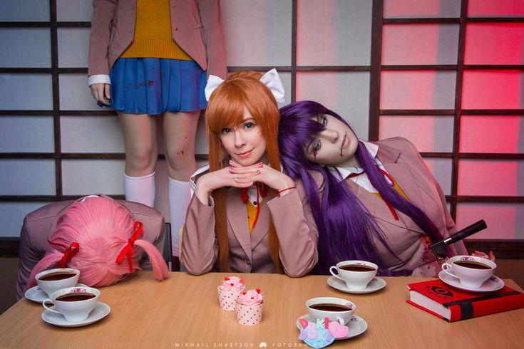 DDLC Group Cosplay | Doki Doki Literature Club | Know Your Meme