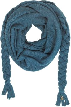 The Wool Braided Scarf by Patrizia Pepe is crafted in a wool and alpaca blend featuring triangle design, long braided ends and a signature charm on end.