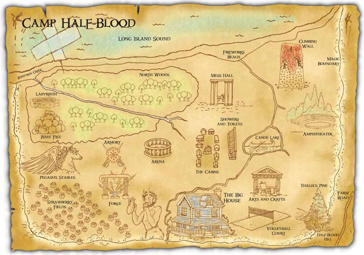A Map of Camp Half Blood – Rick Riordan