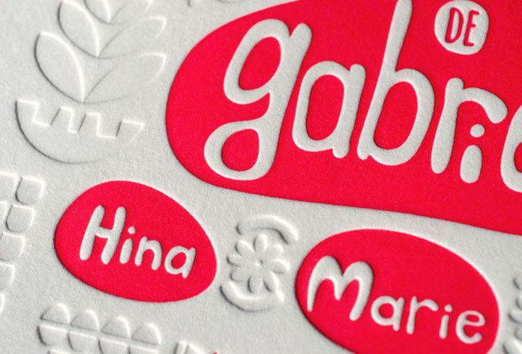 Faire-part de naissance letterpress Gabrielle, Letterpress de Paris