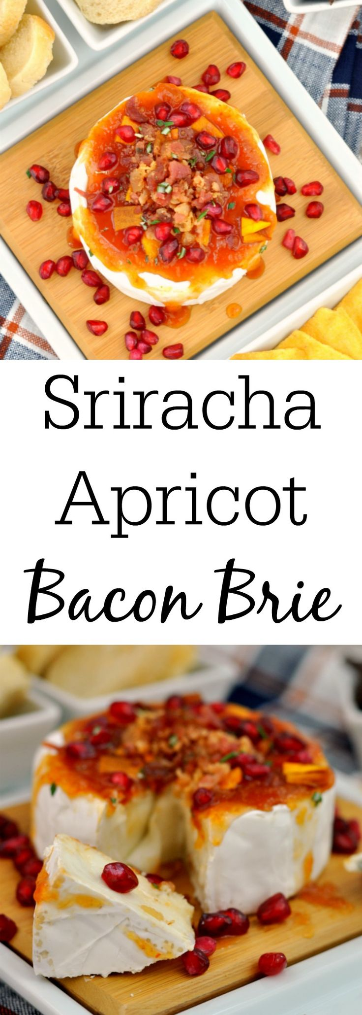 Sriracha Apricot Bacon Brie - A Perfect Holiday Appetizer #AD https://www.mysuburbankitchen.com/2017/11/sriracha-apricot-bacon-brie/