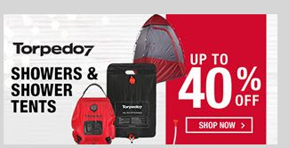 Bargain - Up to 40% OFF - Showers and Shower Tents @ Torpedo 7