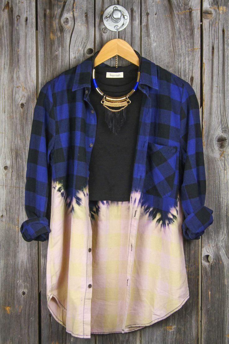 Bleach Dipped Flannel