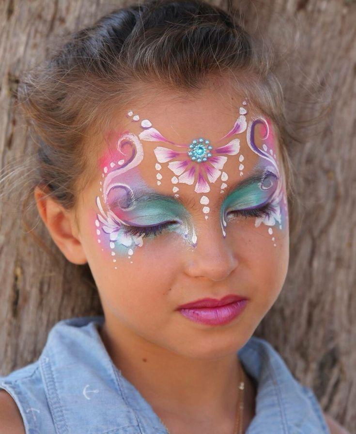 prinzessin schminken blumen blüten rosa #fasching #makeup #princess