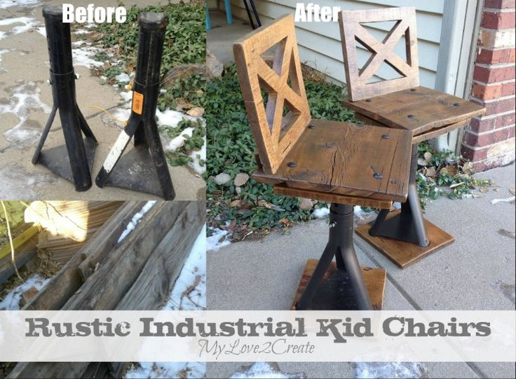 From My Love 2 CreateRustic Industrial Kid Chairs