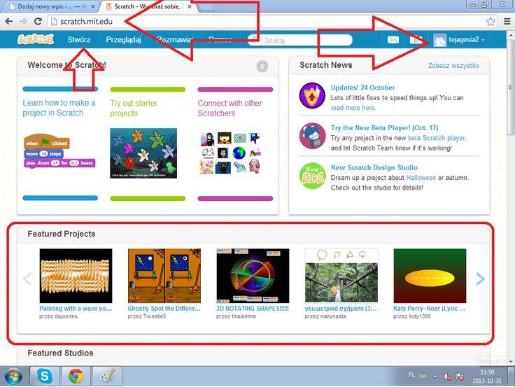 Instrukcja programowania w Scratchu z blogu Gosi. Polecam.