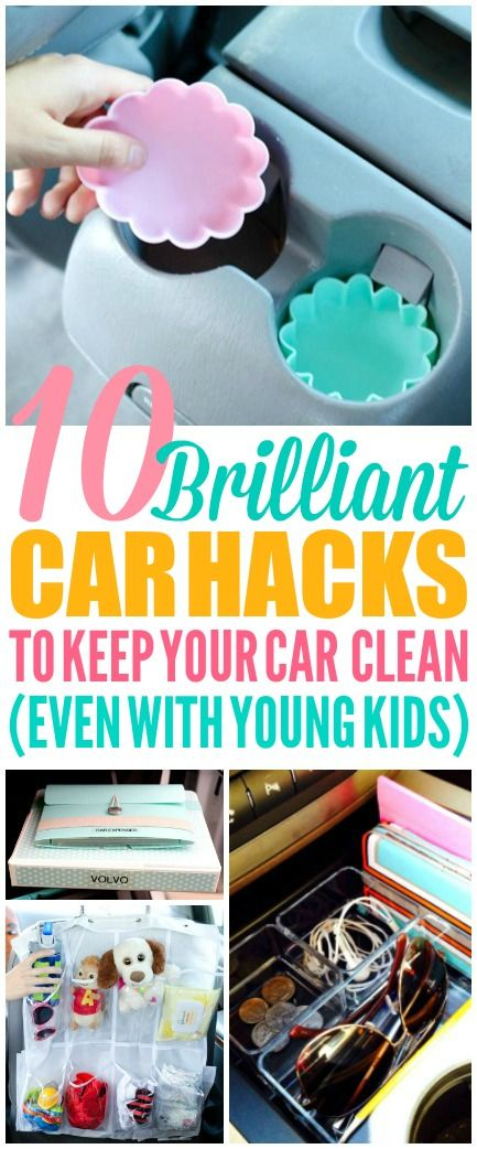 These 10 car hacks are THE BEST! I'm so glad I found these AWESOME tips! Now I have great car organization and car cleaning tips! Definitely pinning!