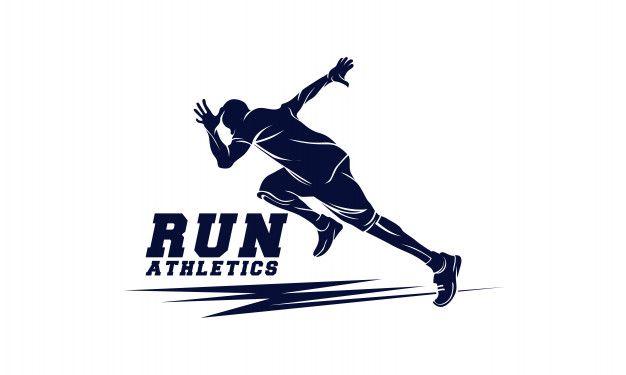 Athletics Running Man Sport Emblem Running Man Logo Running Man Sports Logo Design