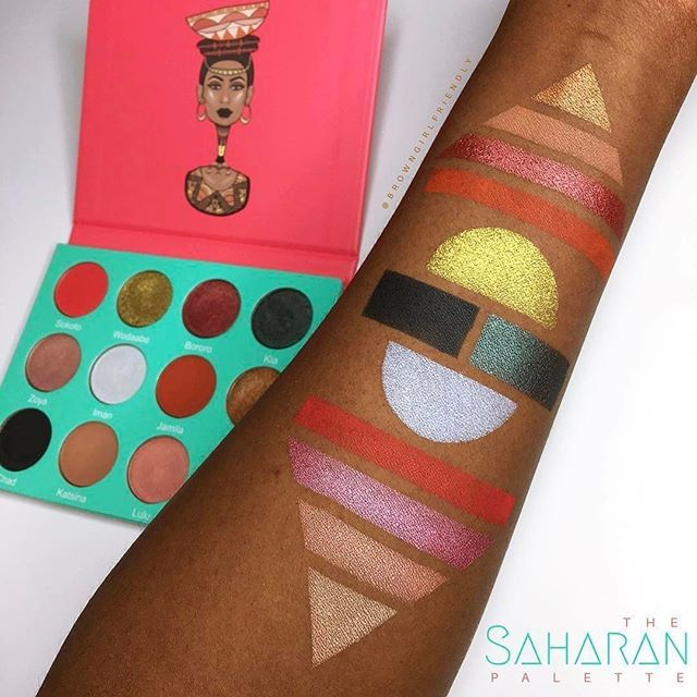 Their The Nubian and The Nubian 2 palettes, in particular, pay homage to the OG queen of beauty, Nefertiti, with her image on the cover and a combo of lush metallic and matte shades. Beauty vloggers like Jackie Aina, Stephanie Nicole, and Bretman Rock have raved about the shadows's creamy, butter-like texture that doesn't leave any crumbly fall out under the eyes.
