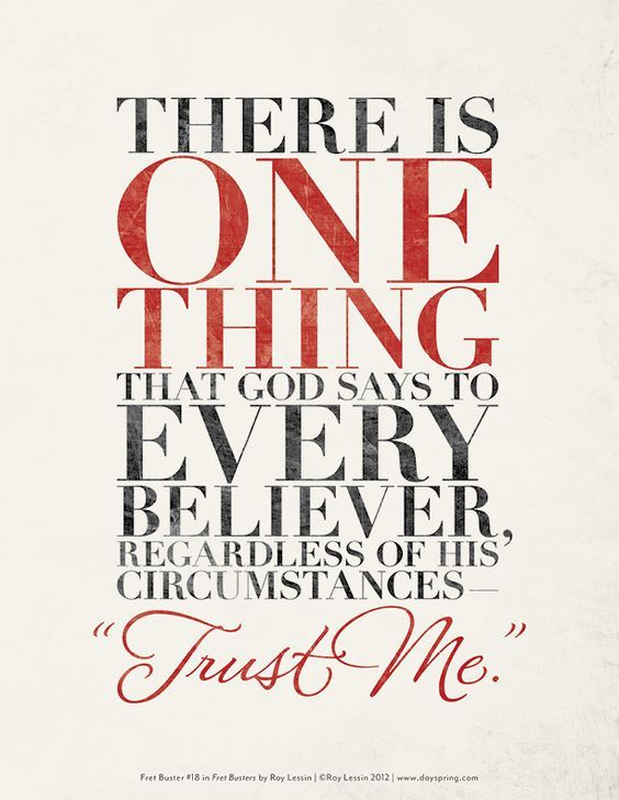There Is One Thing That God Says To Every Believer Regardless Of