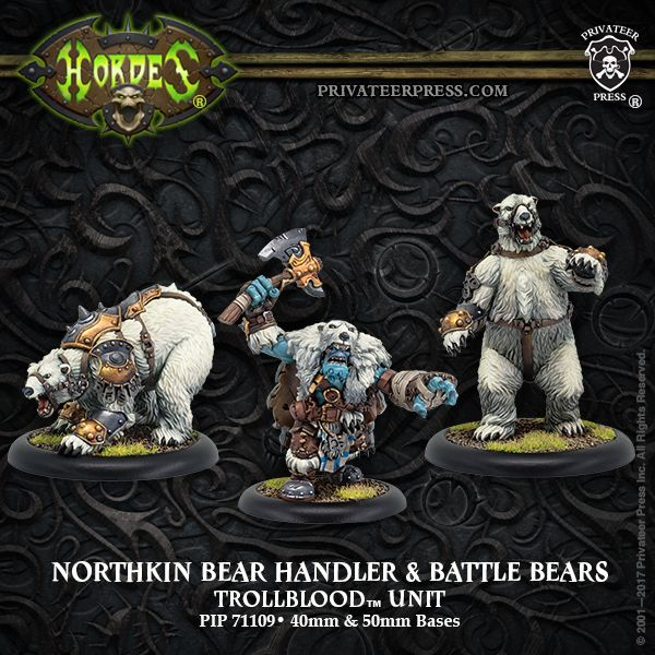 On shelves now - Northkin Bear Handlers & Battle Bears, the power of these beasts makes them potent weapons of war: http://ss1.us/a/AarG9vnD