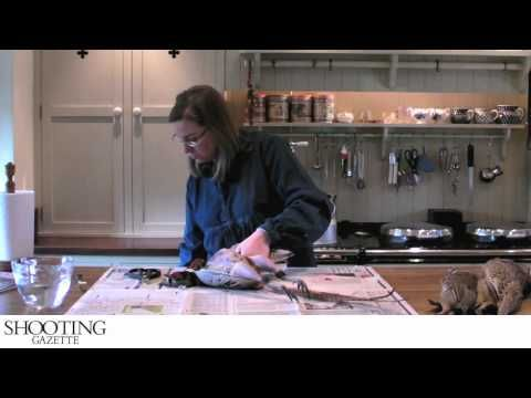 How to pluck and prepare a pheasant - Amy Willcock - YouTube