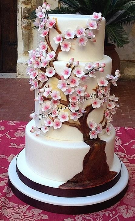 Almond Tree in Blossom Cake