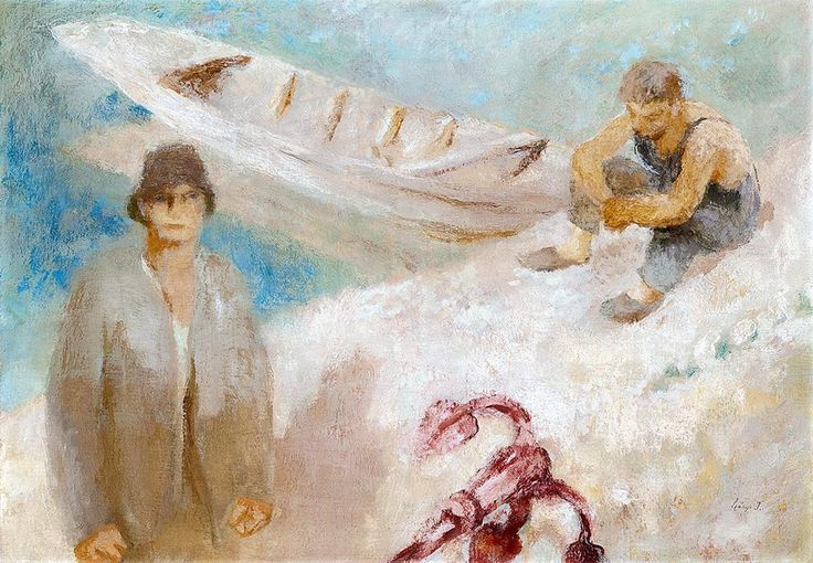 Szonyi Istvan, 1894-1960, Fishermen by the Danube