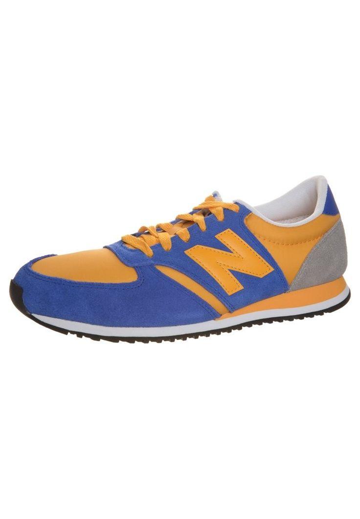 New Balance (NB) U 420 Dames Blauw Oranje Grijs Hardloopschoenen,Stylish  trainers hot sale with off right here.