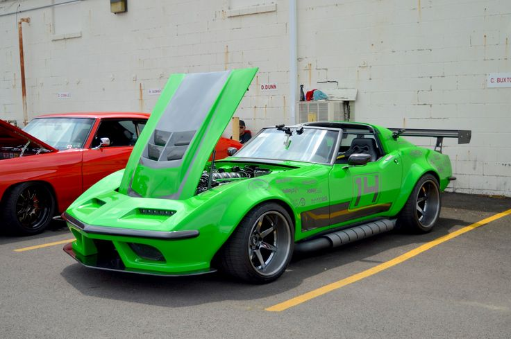 "Think this thing packs a venomous bite? Bob Bertelsen's 1968 ""Green Mamba"" Corvette is powered by a naturally-aspirated Holley EFI-injected Keith Urban 427 mated through a Centerforce clutch to a Bowler Performance Tremec transmission. And it rides on Detroit Speed suspension, Baer brakes, and 18x11.5/18x12.5 Forgeline CV3C Concave Wheels finished with Black Chrome PVD centers & Transparent Smoke outers!"