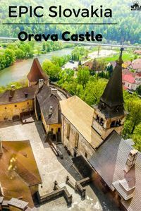 The northern end of Slovakia seemed very rural with a few nondescript towns, tractors on the roads and farmers in the fields. It was so green and reminded us of home as we drove through. Oravsky Hrad or Orava Castle as it is known in English is located in