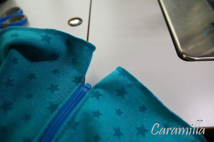 Mikina s raglánovým rukávem - se stojáčkem / s kapucou (fotonávod a střih) | Caramilla