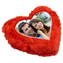 Cushion-Crush Relive your beautiful memories captured in this personalised heart-shaped cushion.