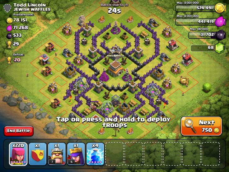 Spider base layout (Clash of Clans)