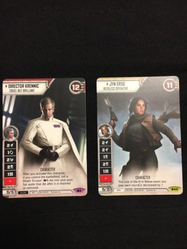 CCG Individual Cards 183454: Star Wars Celebration Destiny Full Art Jyn Erso And Krennic Con Exclusive Promo -> BUY IT NOW ONLY: $70 on eBay!