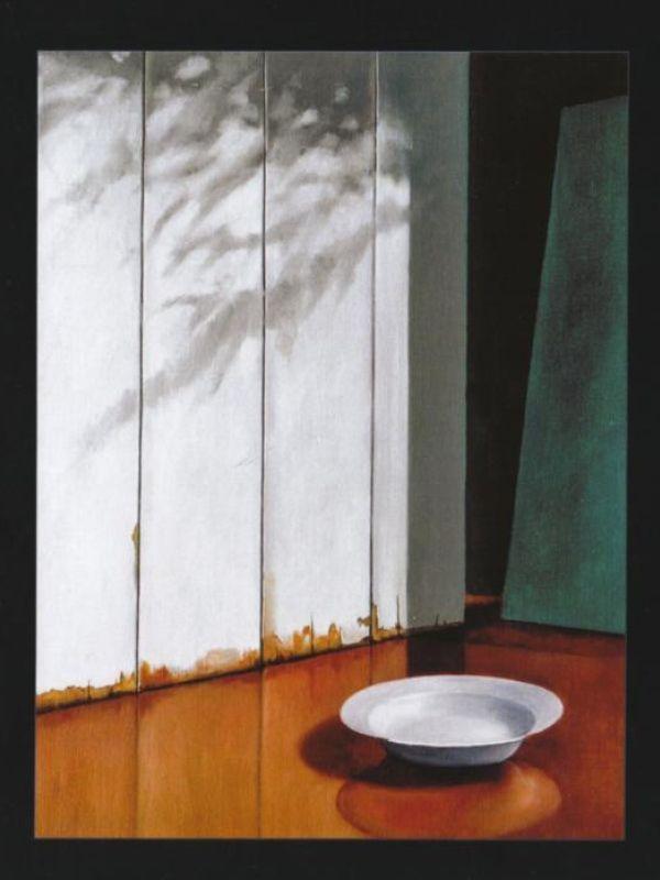 'Bijna leeg', olieverf op doek uit 2007 van Pieter vriends.