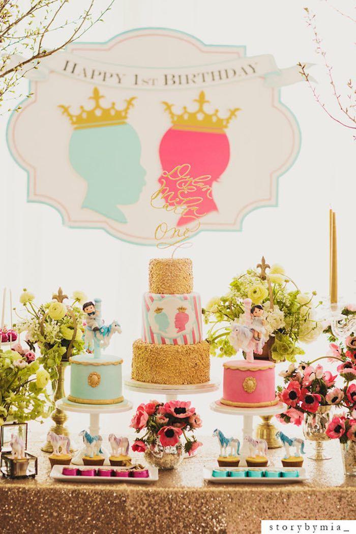 Royal Silhouette Prince + Princess themed birthday party via Kara's Party Ideas | KarasPartyIdeas.com (24)