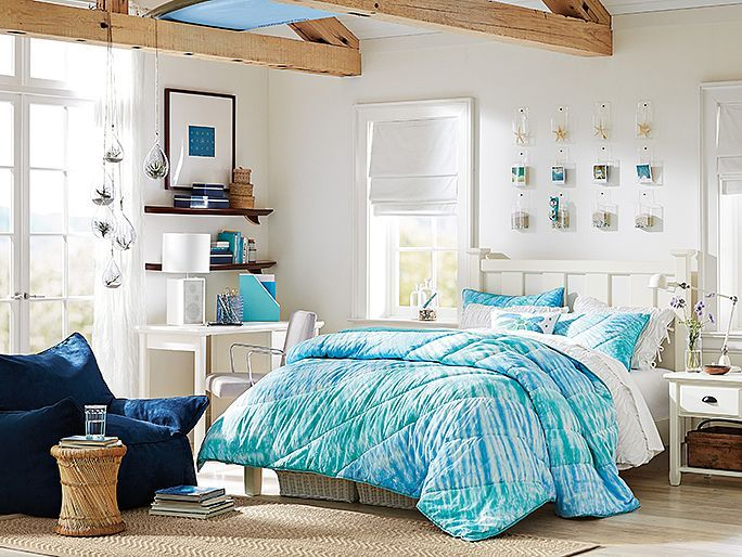 Chatham Tie-Dye Bedroom // love this room for the surfer
