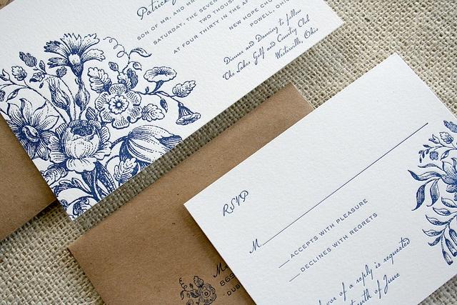 Rustic Elegance Wedding Invitation by Sarah Parrott, via Flickr