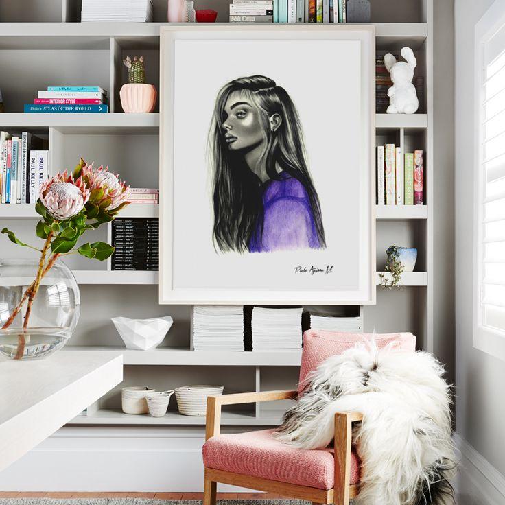 Purple Doll / Art Frame / Artist: Paula Aguirre (Chile)