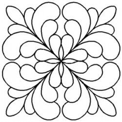 Quilt Stencil Adante Feather Block 3 Pack Rb75qc Whole