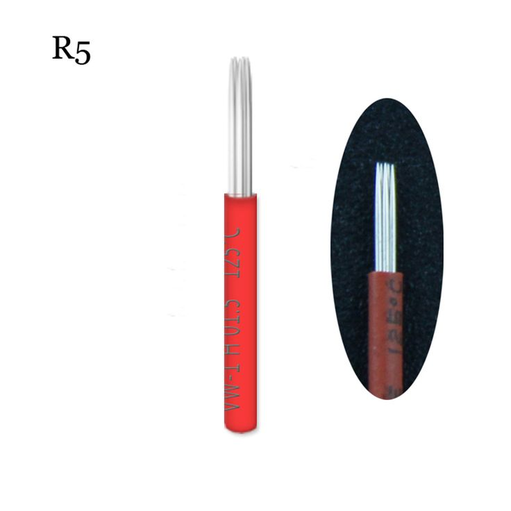 50pcs Lamina Shading R5 LINER Microblading Tebori Needles Manual Needle for Fog Eyebrow Blade Round Needles for Permanent Makeup #Affiliate