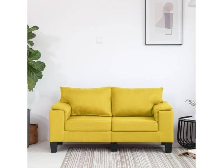 Vidaxl 2 Sitzer Sofa Gelb Stoff In 2020 Home Decor Home Furniture